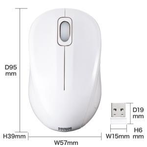 静音ワイヤレスブルーLEDマウス ホワイト(MA-WBL32W)(即納)|sanwadirect|08