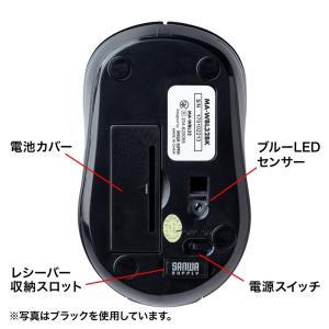 静音ワイヤレスブルーLEDマウス ホワイト(MA-WBL32W)(即納)|sanwadirect|09