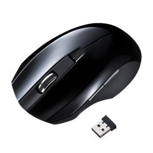 静音ワイヤレスブルーLEDマウス ブラック 5ボタン(MA-WBL33BK)(即納)|sanwadirect