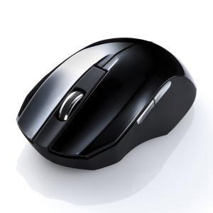 静音ワイヤレスブルーLEDマウス ブラック 5ボタン(MA-WBL33BK)(即納)|sanwadirect|03