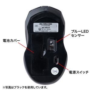 静音ワイヤレスブルーLEDマウス シルバー 5ボタン(MA-WBL33S)(即納) sanwadirect 12