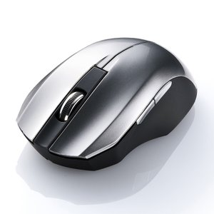 静音ワイヤレスブルーLEDマウス シルバー 5ボタン(MA-WBL33S)(即納) sanwadirect 03