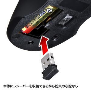 静音ワイヤレスブルーLEDマウス シルバー 5ボタン(MA-WBL33S)(即納) sanwadirect 06