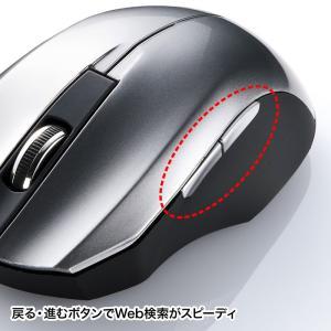 静音ワイヤレスブルーLEDマウス シルバー 5ボタン(MA-WBL33S)(即納) sanwadirect 07