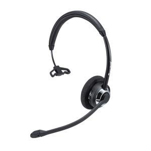 Bluetoothヘッドセット ワイヤレス 片耳 オーバーヘッド コールセンター向け(MM-BTMH39BK)(即納)|sanwadirect