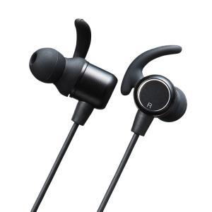 Bluetoothイヤホン 防水 通話対応 マルチポイント機能(MM-BTSH36BK)(即納)|sanwadirect