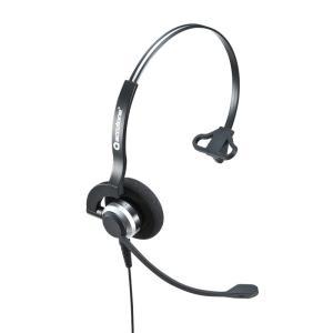 USBヘッドセット 片耳タイプ コールセンター向け(MM-HSU07BK)(即納)|sanwadirect
