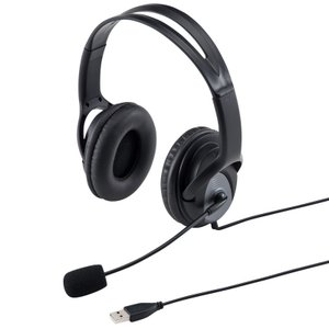 USBヘッドセット ブラック(MM-HSUSB17BK)(即納)|sanwadirect
