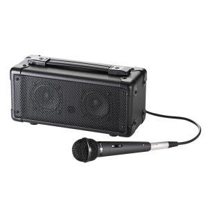 拡声器 スピーカー アンプ付きスピーカー マイクセット|sanwadirect