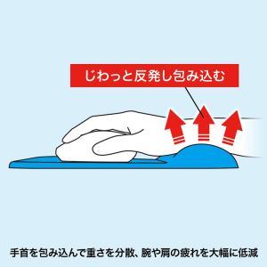 低反発リストレスト付きマウスパッド ブルー(MPD-MU1NBL)(即納)|sanwadirect|04
