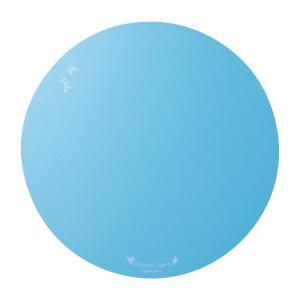 マウスパッド 丸形 ブルー(MPD-OP57BL) sanwadirect