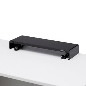 机上ラック 電源タップ+USBポート付き/W600×D200mm ブラック(MR-LC202BK)|sanwadirect