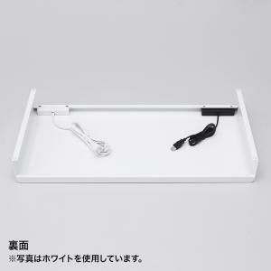 机上ラック 電源タップ+USBポート付き/W600×D300mm ブラック(MR-LC203BK)(即納) sanwadirect 11