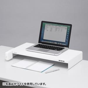 机上ラック 電源タップ+USBポート付き/W600×D300mm ブラック(MR-LC203BK)(即納) sanwadirect 12
