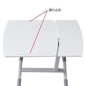 サイドテーブル ノートパソコンテーブル(NPC-10W)(即納)|sanwadirect|12
