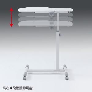 サイドテーブル ノートパソコンテーブル(NPC-10W)(即納)|sanwadirect|14