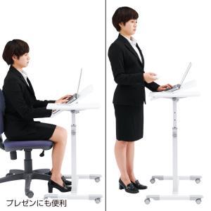サイドテーブル ノートパソコンテーブル(NPC-10W)(即納)|sanwadirect|15