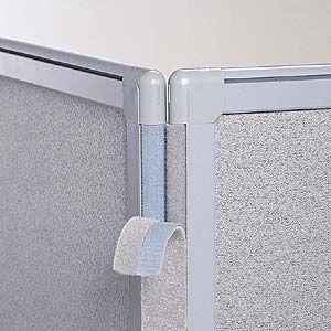 FF-3パネル用コーナーカバー H1300mm オフィス用家具(OG-13CC-G)(取寄せ)|sanwadirect
