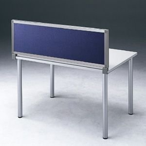 パーテーション デスク パネル シリーズ H400×W1600ネイビー 受注生産 ついたて 目隠し 仕切り オフィス用家具(OU-0416C3009)(取寄せ)|sanwadirect
