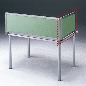 パーテーション デスク パネル シリーズ H400×W665サイドAグリーン 受注生産 ついたて 目隠し 仕切り オフィス用家具(OU-04SDCA3005)(取寄せ)|sanwadirect