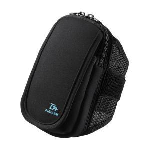 アームバンド スポーツ向けMサイズ 5.2インチ ブラック(PDA-ARM3BK)(即納)|sanwadirect