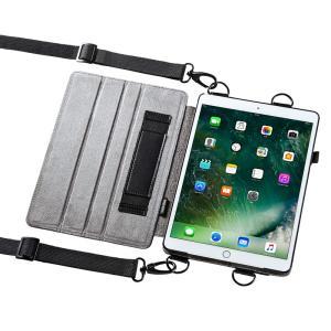 iPad Pro 10.5インチ スタンド機能付きショルダーベルトケース(PDA-IPAD1112)(即納) sanwadirect
