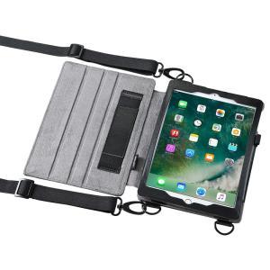 ショルダーベルト付きケース  iPad Pro9.7 / iPad Air2対応 スタンド機能付き(PDA-IPAD912) sanwadirect