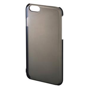 iPhone 6 クリアハードケース クリアブラック(PDA-IPH006BK)|sanwadirect