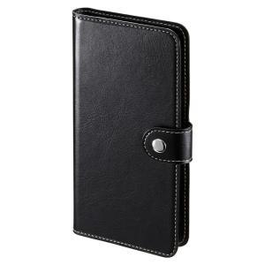 手帳型スマートフォンケース 6インチ ブラック(PDA-SPC31BK)(即納)|sanwadirect