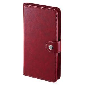 手帳型スマートフォンケース 6インチ レッド(PDA-SPC31R)(即納)|sanwadirect