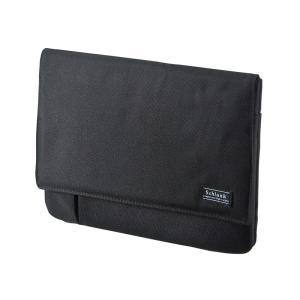小物ポケット付きタブレットケース 7から8型 ブラック(PDA-TABK7BK) sanwadirect