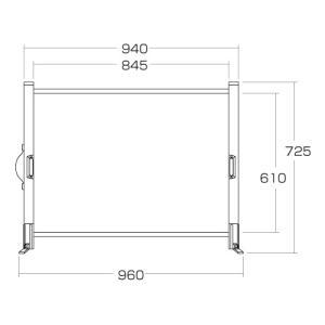 プロジェクタースクリーン モバイル 自立式 40インチ 相当 4:3 机上 インチ  プレゼン 家庭用(PRS-M40)(即納)|sanwadirect|02