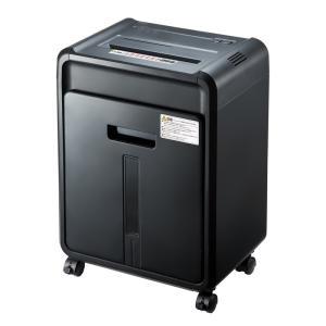 電動シュレッダー 業務用 マイクロカット 12枚細断 連続10分使用 CD/DVD カード対応(PSD-M1225)(即納)|sanwadirect