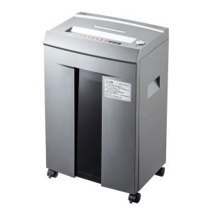 電動シュレッダー 業務用 マイクロカット 10枚細断 連続40分 CD/DVD カード対応(PSD-M4010)(即納)|sanwadirect