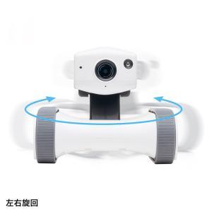 ネットワークカメラ スマホ 小型 遠隔操作 移動式 見守りカメラ 家庭用|sanwadirect|07
