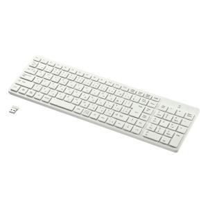 ワイヤレスキーボード アイソレーション テンキー付き ホワイト(SKB-WL26W)(即納)|sanwadirect