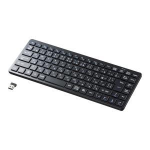 ワイヤレスキーボード アイソレーション テンキーなし ブラック(SKB-WL27BK)(即納)|sanwadirect