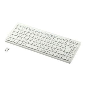 ワイヤレスキーボード アイソレーション テンキーなし ホワイト(SKB-WL27W)(即納)|sanwadirect