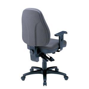 ハイバック オフィスチェアー 肘掛付き 座る人の体型に合わせて細やかな調整が可能(即納) sanwadirect 02