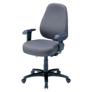 ハイバック オフィスチェアー 肘掛付き 座る人の体型に合わせて細やかな調整が可能(即納) sanwadirect 10