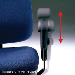 ハイバック オフィスチェアー 肘掛付き 座る人の体型に合わせて細やかな調整が可能(即納) sanwadirect 04