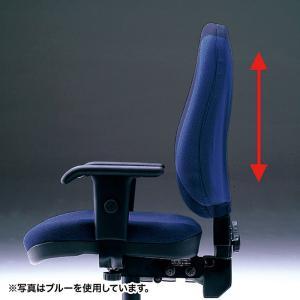 ハイバック オフィスチェアー 肘掛付き 座る人の体型に合わせて細やかな調整が可能(即納) sanwadirect 05