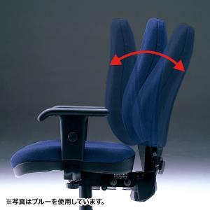 ハイバック オフィスチェアー 肘掛付き 座る人の体型に合わせて細やかな調整が可能(即納) sanwadirect 06