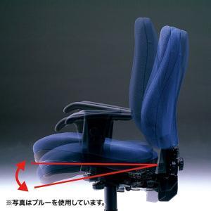 ハイバック オフィスチェアー 肘掛付き 座る人の体型に合わせて細やかな調整が可能(即納) sanwadirect 07