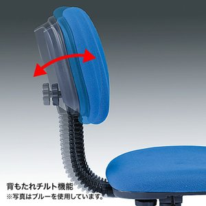低ホルムアルデヒドチェア 背もたれチルト機能 ブラック(SNC-E9BK)(即納) sanwadirect 05