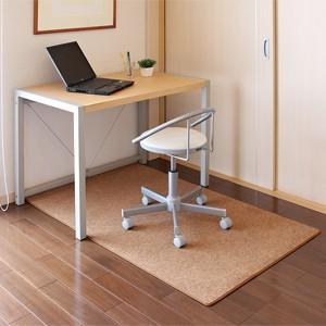オフィスチェア用マット ブラウン フローリングなどの床に傷がつくのを防ぐ室内用大型オフィスチェアマット(即納) sanwadirect