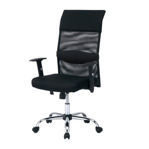 メッシュオフィスチェア ブラック 肘付き 蒸れにくいメッシュ生地でパソコン作業に最適(即納)|sanwadirect