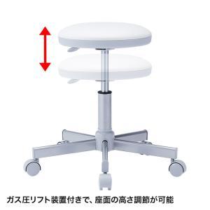 丸椅子 ホワイト 病院向け 背もたれ無し(SNC-RD4VW2)(即納) sanwadirect 03