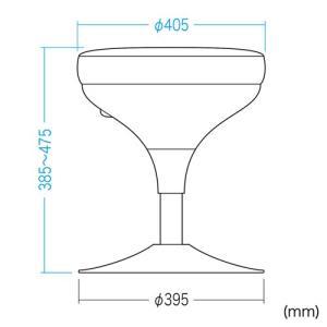 メディカルスツール 丸椅子タイプ 上下昇降 グリーン(SNC-RD6VG) sanwadirect 02