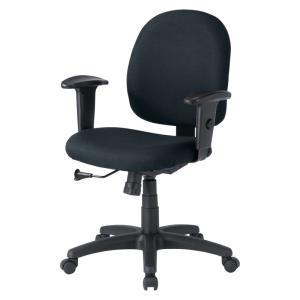 パソコン用オフィスチェア 肘あて付き 長時間のパソコン作業でも疲れにくいチェア 黒椅子(即納)|sanwadirect